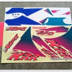 สติ๊กเกอร์ KR-R ปี 95 ติดรถสีน้ำเงิน