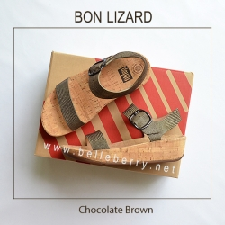 รองเท้า FitFlop BON LIZARD : Chocolate Brown : Size US 8 / EU 39