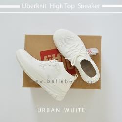 FitFlop : Uberknit High Top Sneaker : Urban White : Size US 6 / EU 37