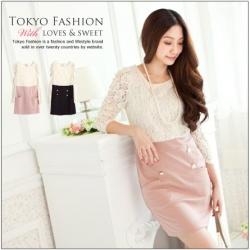 ❤❤ สีชมพูพร้อมส่งค่ะ ❤❤ ชุดเดรสผ้าลูกไม้หวานๆ ตัวเสื้อด้านบนเป็นผ้าลูกไม้สีขาวแขนยาว จั๊มช่วงแขน ตัดต่อกระโปรงสีชมพู