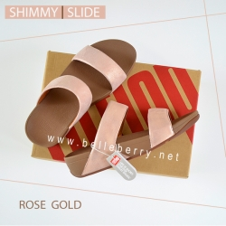 FitFlop : Shimmy Slide : Rose Gold : Size US 9 / EU 41