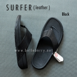 FitFlop Men's : SURFER : Black : Size US 12 / EU 45