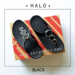 FitFlop : HALO : Black : Size US 7 / EU 38