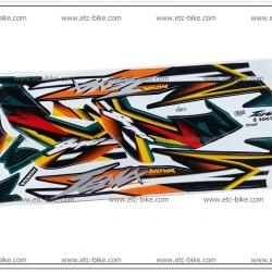 สติ๊กเกอร์ TENA-RS ปี 2002 ติดรถสีเขียว