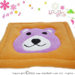 พรมเช็ดเท้าแฟนซี-Size L-หมี-ส้ม