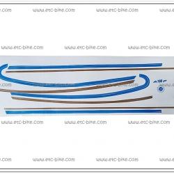 สติ๊กเกอร์ A100 P ติดรถสีน้ำเงิน