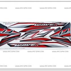 สติ๊กเกอร์ WAVE110-I ปี 2016 รุ่น 23 ติดรถสีดำ-แดง