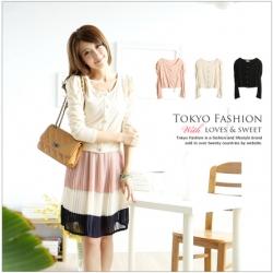 ♥♥พร้อมส่งค่ะ♥♥ เสื้อคลุมน่ารักๆ แขนยาว กระดุมหน้า สี Apricot
