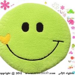 เบาะรองนั่งแฟนซี-พระจันทร์ยิ้ม-สีเขียว