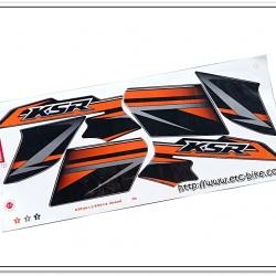 สติ๊กเกอร์ KSR ปี 2014 รุ่น 13 ติดรถสีส้ม
