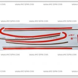 สติ๊กเกอร์ A100 P สีแดง