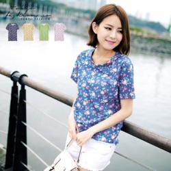 ♡♡pre-order♡♡ เสื้อยืดลายดอก สดใสน่ารัก คอกลมแขนสั้น สวมใส่สบาย นำเข้าจากเกาหลี ผ้าคอตตอนเนื้อดี สวยน่ารักมากๆ ค่ะ ใส่ได้ทุกโอกาสเลยจ้า
