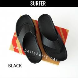FitFlop : Surfer (Leather) : Black : Size US 12 / EU 45