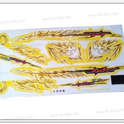 สติ๊กเกอร์ MIO-ZR, MIO-MX ปี 2008 รุ่น 14 ติดรถสีเหลือง