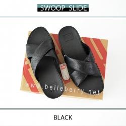 FitFlop : Swoop Slide : Black : Size US 7 / EU 38