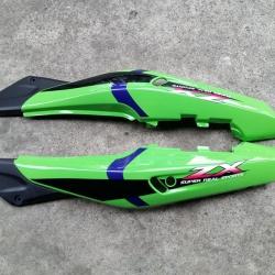 ฝาข้าง KR150-ZX สีเขียว/ดำ แท้ศูนย์