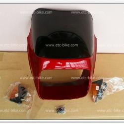 หน้ากาก+บังไมล์ พร้อมไฟเลี้ยว GTO/4 สีแดงบรอนซ์
