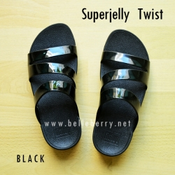 รองเท้า FitFlop SUPERJELLY TWIST : Black : Size US 5 / EU 36