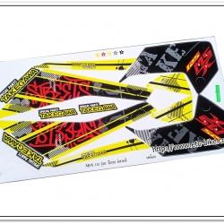 สติ๊กเกอร์ MSX-TAKEGAWA ติดรถสีเหลือง