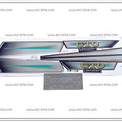 สติ๊กเกอร์ GTO ปี 2004 ติดรถสีน้ำเงิน