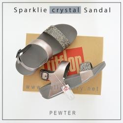 FitFlop : Sparklie Crystal Sandal : Pewter : Size US 6 / EU 37
