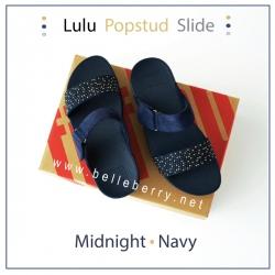 * NEW * FitFlop : LULU Popstud Slide : Midnight Navy : Size US 8 / EU 39