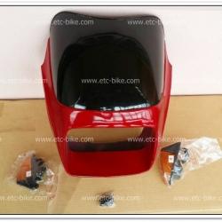 หน้ากาก+บังไมล์ พร้อมไฟเลี้ยว GTO/4 สีแดงใหม่