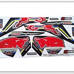 สติ๊กเกอร์ MSX-REDBULL ติดรถสีดำ