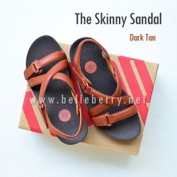 * NEW * FitFlop The Skinny Sandal : Dark Tan : Size US 6 / EU 37