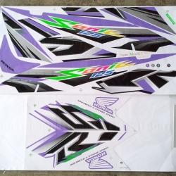 สติ๊กเกอร์ SONIC-2007 ลายแต่ง สีม่วง (สีแปลง)