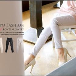 ♡♡Pre Order♡♡ กางเกงสกินนี่ขายาว สวมใส่สบาย เนื้อผ้าคอตตอนนิ่ม ใส่ทำงานหรือไปเที่ยวน่ารักๆ ค่ะ