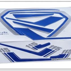 สติ๊กเกอร์ RXS-88 ติดรถสีฟ้า