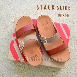 FitFlop Stack Slide : Dark Tan : Size US 8 / EU 39