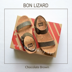 รองเท้า FitFlop BON LIZARD : Chocolate Brown : Size US 7 / EU 38
