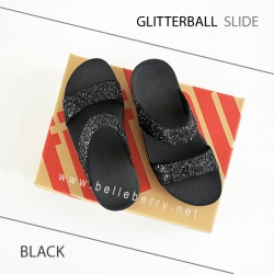 FitFlop : GLITTERBALL Slide : Black : Size US 7 / EU 38