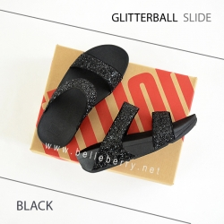 * NEW * FitFlop : GLITTERBALL Slide : Black : Size US 6 / EU 37