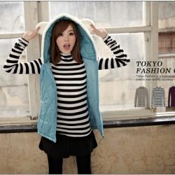 ♡♡Pre Order♡♡ เสื้อคอปก แขนยาว เล่นลายทางตามแนวนอน สวย น่ารัก สวมใส่สบาย