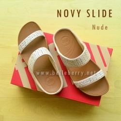 **พร้อมส่ง** FitFlop : NOVY Slide : Nude : Size US 8 / EU 39