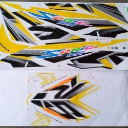 สติ๊กเกอร์ SONIC-2007 ลายแต่ง สีเหลือง (สีแปลง)