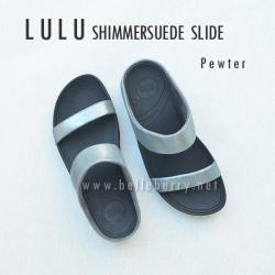 FitFlop Lulu Shimmersuede Slide : Pewter : Size US 5 / EU 36