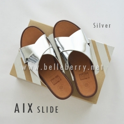 * NEW * FitFlop AIX Slide : Silver : Size US 6 / EU 37