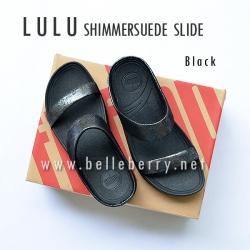FitFlop Lulu Shimmersuede Slide : Black : Size US 6 / EU 37