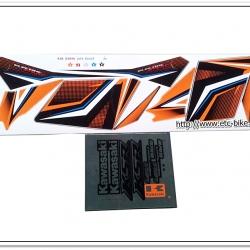 สติ๊กเกอร์ KSR ปี 2014 รุ่น 12 ติดรถสีส้ม