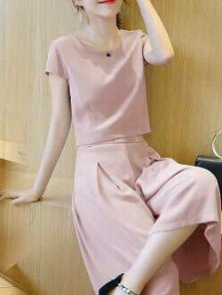 ส่ง:งานจีนเช็ท2ชิ้นขาบานใส่สบาย/เสื้ออก38+กางเกงเอวยืด24-34