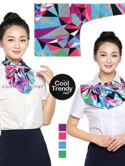 ผ้าพันคอสำเร็จรูป ผ้ายูนิฟอร์ม uniform ผ้าไหมซาติน : L90