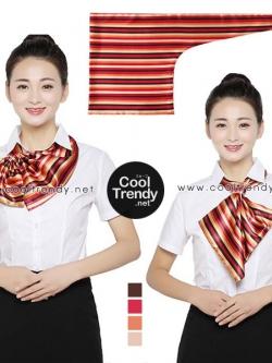 ผ้าพันคอสำเร็จรูป ผ้ายูนิฟอร์ม uniform ผ้าไหมซาติน : L31