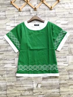 ส่ง:เสื้อทรงบานสวิงแต่งปักสีเขียวสดใส/อก40