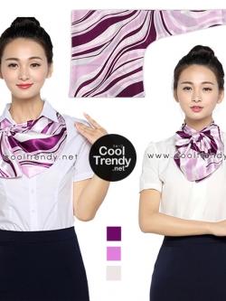 ผ้าพันคอสำเร็จรูป ผ้ายูนิฟอร์ม uniform ผ้าไหมซาติน : L12