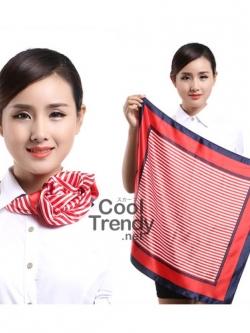 ผ้าพันคอจัตุรัส ผ้าพันคอ uniform รหัส S20 - size 60 x 60 cm