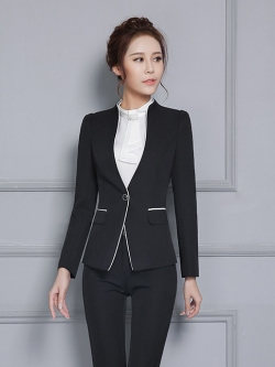 ชุดสูทยูนิฟอร์มพนักงานออฟฟิต เสื้อสูทสีดำ พร้อมกางเกงสูทสีดำ